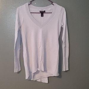 WHBM light lavender split back sweater sz S